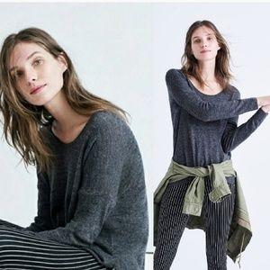 MADEWELL Merino Wool Long Sleeve Pullover Sweater